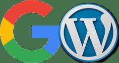 Logo de Google y de WordPress
